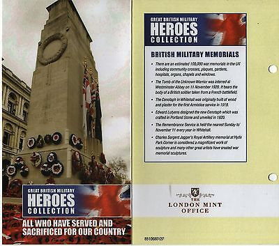 Great British Military Heroes Collection 'the Lone Soldier' Golden Crown + Coa