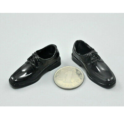 1/6 Scale Black Lace Up Shoes fit for 12 inch Male Action Figure Toys Accs