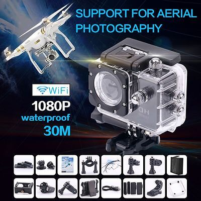 2'' WIFI HD Helmet Motorcycle Sports DV Action Camera Waterproof 1080P