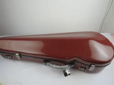 """Best Red fiberglass adjustable 15-17"""" viola case,With two bow's holder"""