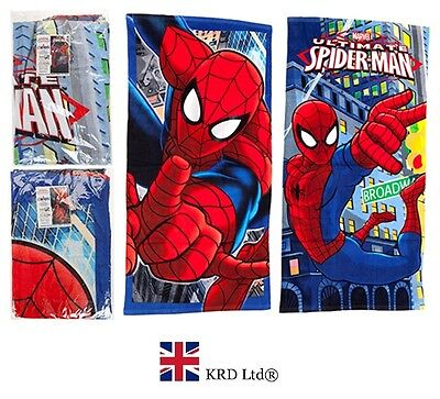SPIDERMAN TOWEL Beach Pool Bath Towels Kids Boys Christmas Gift Stocking Filler