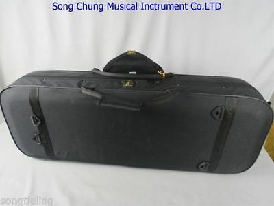 """Strong Black viola case 15"""" inch,two bow holders ,perfect workmanship"""