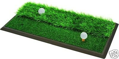 Golf 2 in 1 Practice Mat - Turf Grass - New