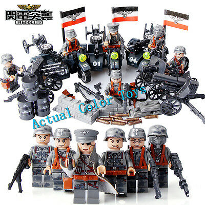 World War German  Military German Army Soldier 6PCS Minifigures Building Blocks
