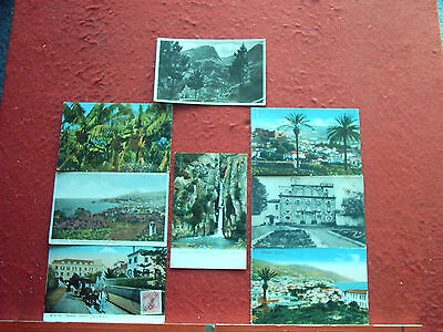 8 Old Postcards Madeira and Azores