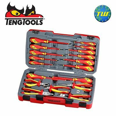 Teng 18pc VDE Plier & Insulated 1000V Screwdriver Electricians Tool Set TV18N