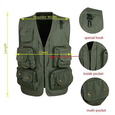 Men Multi Pocket Mesh Vest Costume Waistcoat for Fishing Photographer Hunting