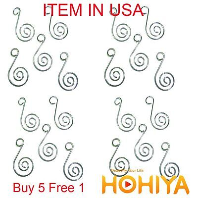 New 100pcs Silver Swirl Decorative Christmas Tree Ornament Hooks Hangers