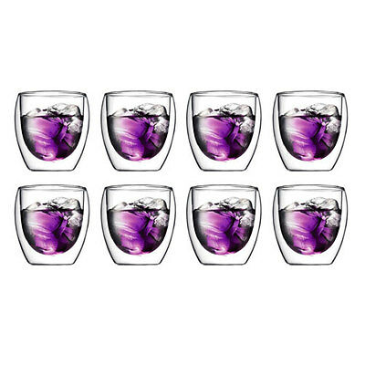 Bodum Pavina Set of 8 250 Ml Double Wall Glasses RRP $79.99