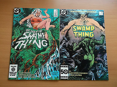 Dc: Swamp Thing #25 & 38, 1St App. John Constantine, Key, 1984, Vf/nm (9.0)!!!