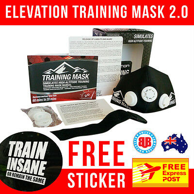 Elevation Training Mask 2.0 - LRG - FREE EXPRESS POST - SAME DAY SHIPPING*