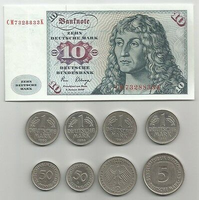 Lotto 0,50-1-2-5-10 Marchi Tedeschi - Lot Deutsche Mark