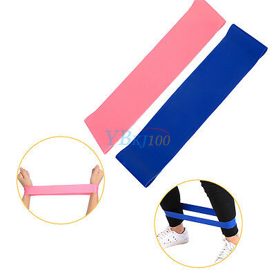 2 Colors Elastic Resistance Loop Bands for Yoga Pilates Gym Exercise  Fitness