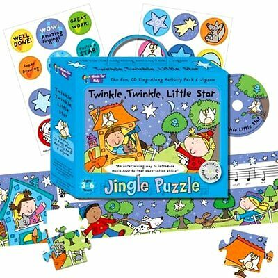 10 x Wholesale Joblot Jingle Puzzle & Bedtime Songs CD Kids Toddler Jigsaws Toys