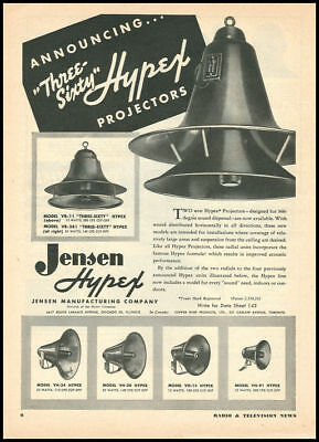 1949 vintage ad for Hypex Sound Projectors