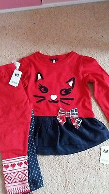 BNWT Kitty Dress and Leggings x 2 (2-3 years)