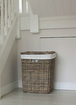 GARDEN TRADING Large Cadgwith Rattan Laundry Basket With Lid Ref 2