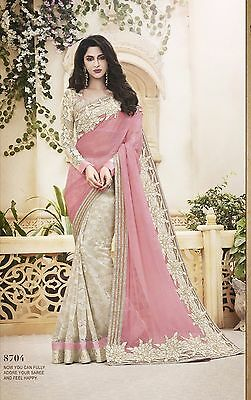 Bollywood Pakistani Traditional Party 8704 Saree Designer Sari Wedding Indian