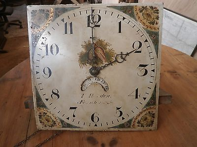 Antique longcase painted dial and movement