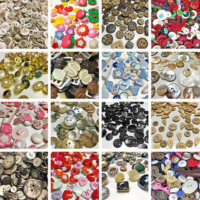 Assorted Mixed Style Buttons Sewing Knitting Flat Shank Beads Coconut Shell New