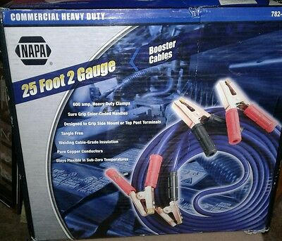 NAPA 25 Foot 2 Gauge Commercial Heavy Duty Booster Cables