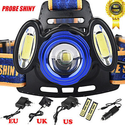 15000Lm 3x XML T6 LED 18650 Rechargeable Headlamp HeadLight Torch USB Lamp Kits