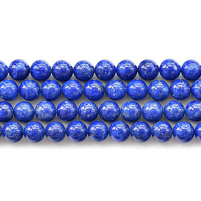 Natural Lapis Lazuli 2A Gemstone Round Beads 15.5'' 6mm 8mm 10mm 12mm