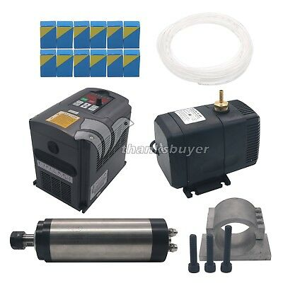 CNC 2.2KW Spindle Motor + Frequency Inverter + Mount + ER20 Collet + Water Pump