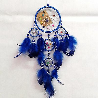 """Dream Catcher 3.5"""" Wall Hanging Decoration Feathers Bead Ornament Native Boho"""