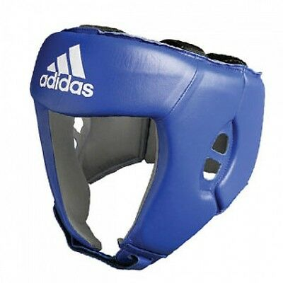 Adidas Aiba Approved Leather Boxing Headguard Blue Large Bnwt