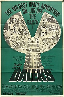 Dr. Who & the Daleks, US One Sheet (1966) Peter Cushing as the Doctor, Roy
