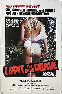 I Spit on Your Grave, Linen Backed Signed One Sheet (1978) Camille Keaton