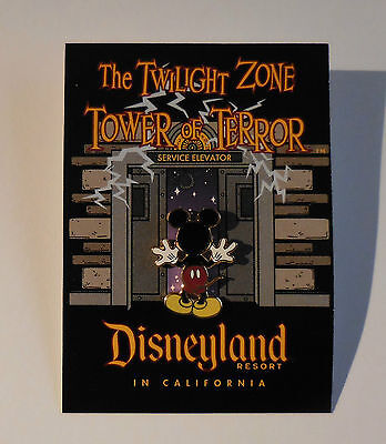 Disney Pin DLR The Twilight Zone Tower Of Terror Mickey's Back LE
