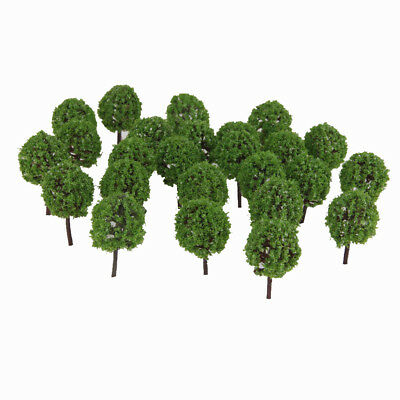 30Pcs Green Model Trees Train Forest Landscape Scenery DIY Toy 1:100 Scale