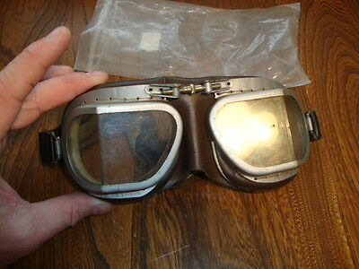WW2 Stadium Flying/Motorcycle Goggles Pat 1010573 VGC!