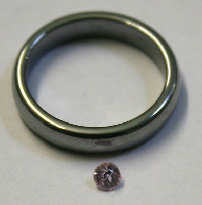 Natural Pink Sapphire Loose Gemstone 3.5Mm Round 0.2Ct Faceted Gem Mineral Sa68B
