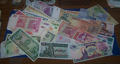 SEVENTY  FOREIGN  BANK NOTE's