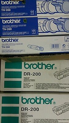 Pack Drum Originale Brother Dr-200 + Toner Tn 200