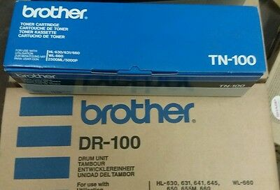 Pack Drum Originale Brother Dr-100 + Toner Originale Tn 100