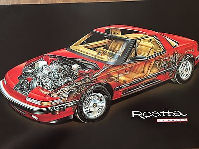 Buick Reatta Cutaway Picture Suitable for Framing