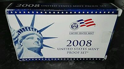 United States Mint Proof Set 2008 Presidential $1 and Quarters Proof Sets