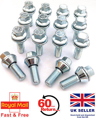 16 x alloy wheel M12 x 1.25 Wobble Wobbly Vari bolts variable PCD - Fiat
