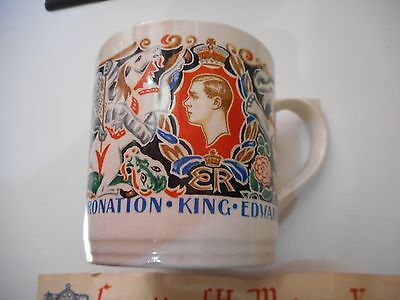 Rare Coronation Souvenir Mug - King Edward VIII - Designed By Dame Laura Knight