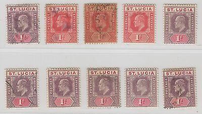 St Lucia Sc. 44 or 51 or 58 King Edward VII 1 p 10 Stamps 1903-10 MH/Used