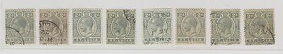 St Lucia Sc. 66 or 80 King George V 2p 8 Stamps 1912-24 MH/Used