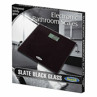 BNIB Black Digital Electronic LCD Personal Bathroom Body Weight Weighing Scales