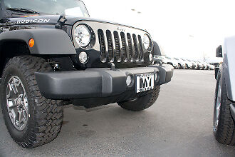 NEW FRONT LICENSE PLATE BRACKET PP PLASTIC FITS 2013-17 JEEP WRANGLER CH1068139