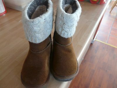 Lovely Next Childrens Boots Size A  Childs 5 Brown Suede