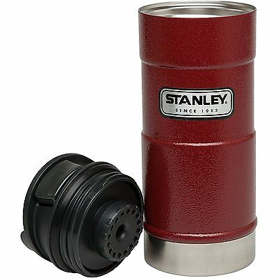 Coffee Thermos Bottle Vacuum Mug One Hand Stanley Classic Stainless Steel Red