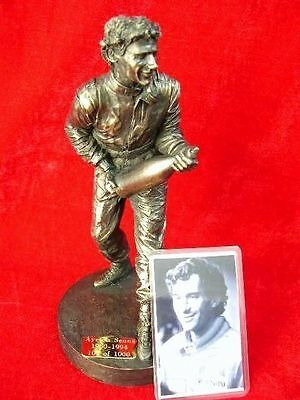 Ayrton Senna Celebration Figurine Formula 1 F1 Motor Racing Figure Model Statue